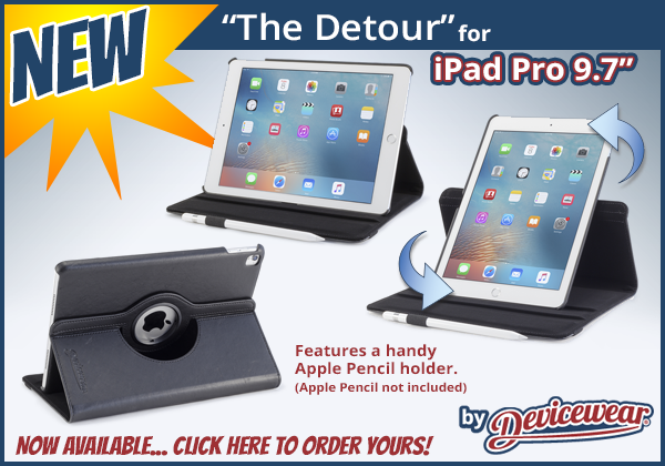 The Detour™ by Devicewear - Vegan Leather Case for the iPad Pro 9.7in.