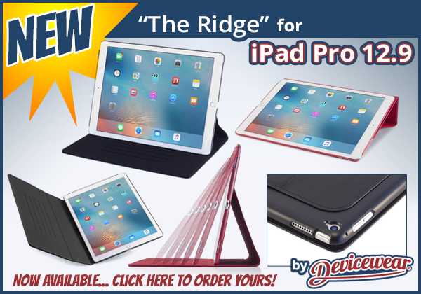 The Ridge™ by Devicewear - Vegan Leather Case for the iPad Pro 12.9in.