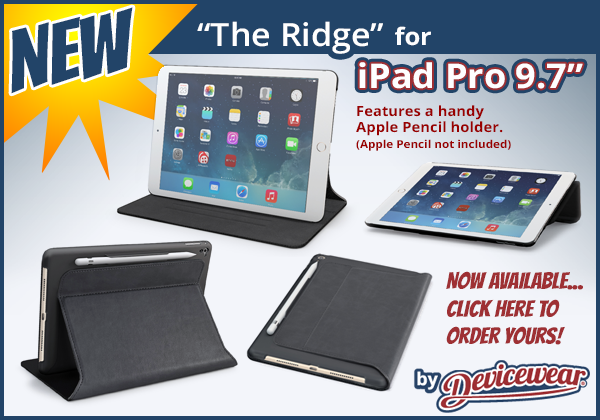 The Ridge™ by Devicewear - Vegan Leather Case for the iPad Pro 9.7in.