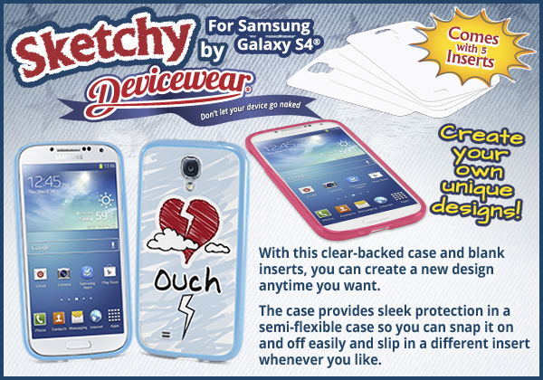 NEW - Sketchy for Samsung Galaxy S4
